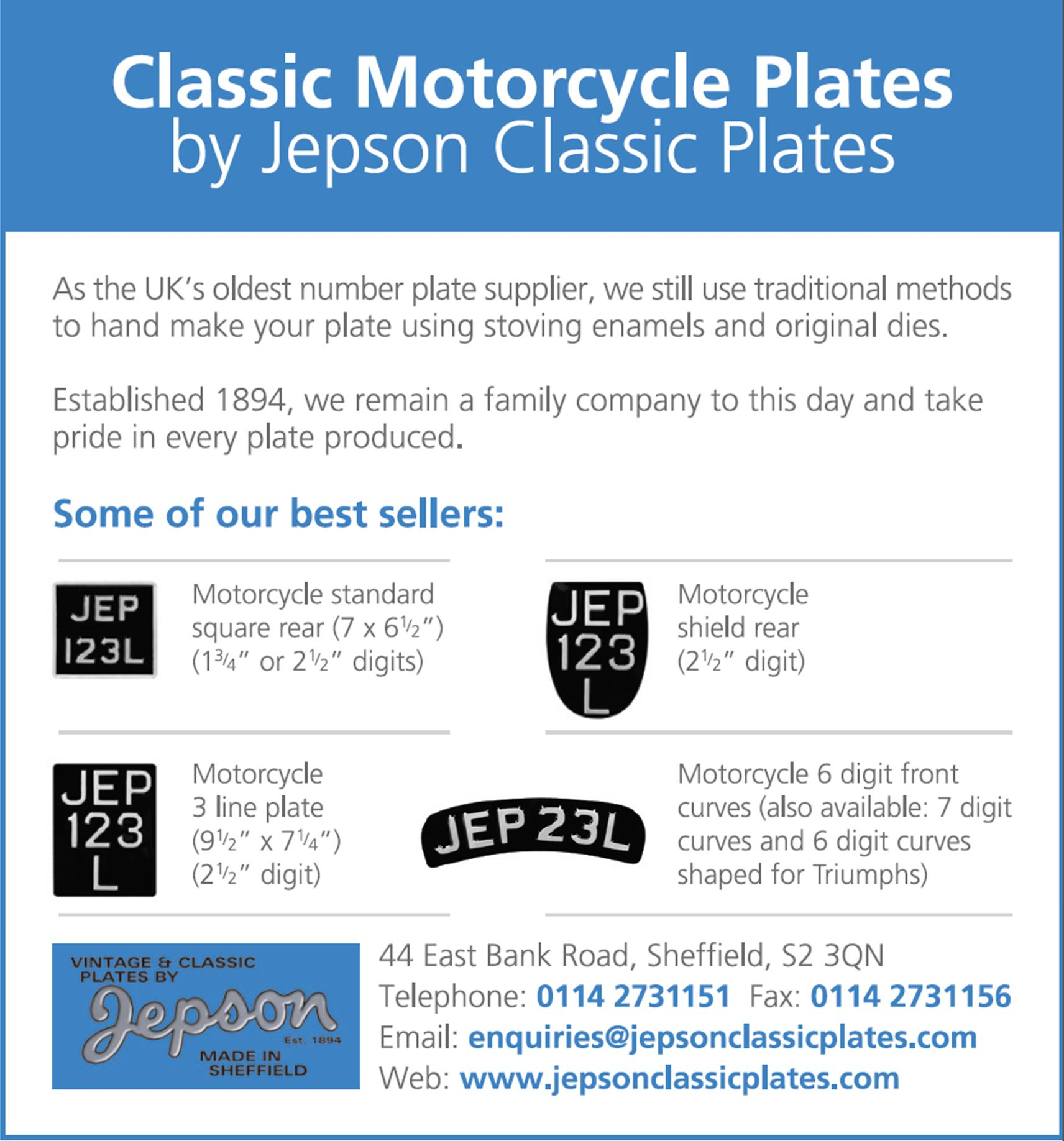 VMCC classic and vintage motorcycles parts and accessories - Number ...