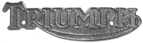 Picture of Triumph Metal Tank Badge - single