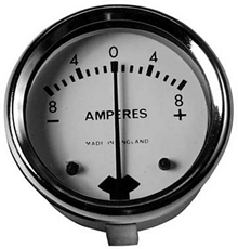 """Picture of Ammeter White Face 1-3/4"""""""