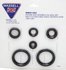 Picture of Oil Seal Kit BSA C15/B40 Sports Star (1964-66)