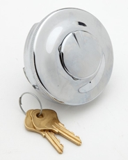 "Picture of Filler Cap - Standard British 2 1/2"" cap locking, comes with 2 keys."