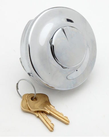 """Picture of Filler Cap - Standard British 2 1/2"""" cap locking, comes with 2 keys."""
