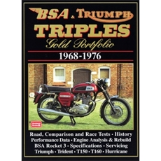 Picture of BSA & Triumph Triples Gold Portfolio 1968-1976 - RM Clarke (Brooklands Books)