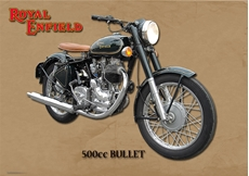 Picture of Royal Enfield 500 Bullet Metal Sign (VMCC Limited)