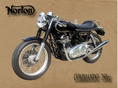 Picture of Norton 750 Commando Metal Sign (VMCC Limited)