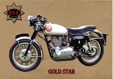 Picture of BSA Gold Star Metal Sign (VMCC Limited)