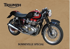 Picture of Triumph Bonneville Metal Sign (VMCC Limited)