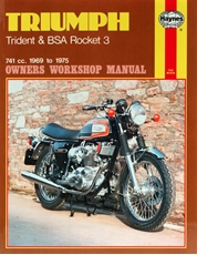 Picture of Triumph Trident/BSA Rocket 3 69-75 Haynes Manual