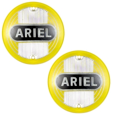 Picture of TANK BADGE - Ariel, Pair of Yellow Ariel Round plastic tank badges (1954-59).