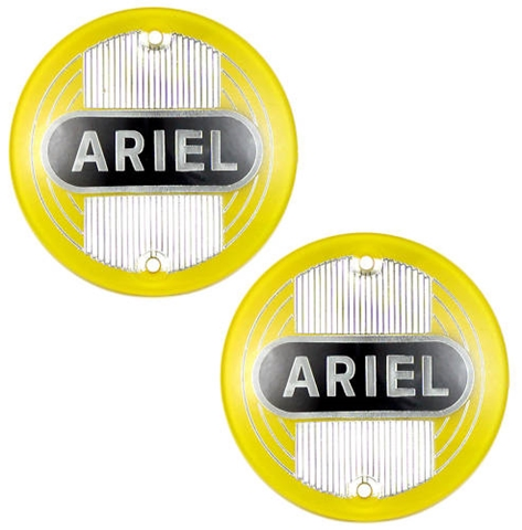 Picture of Pair of Yellow Ariel Round plastic tank badges