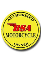 Picture of Authorised BSA Owner Metal Sign