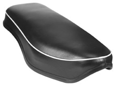 Picture of BSA seat - A & B Swinging arm models (A7,A10,B31,B33). Round nose dual seat 1954-59